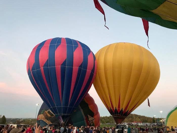 Hot Air Balloons at Nightglow