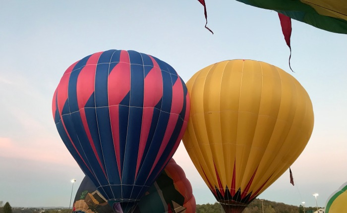 Hot Air Balloons at Nightglow